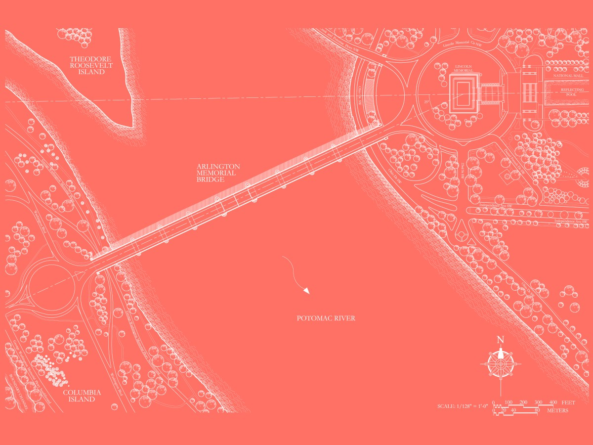 The Arlington Memorial Bridge - Site Plan - Red -