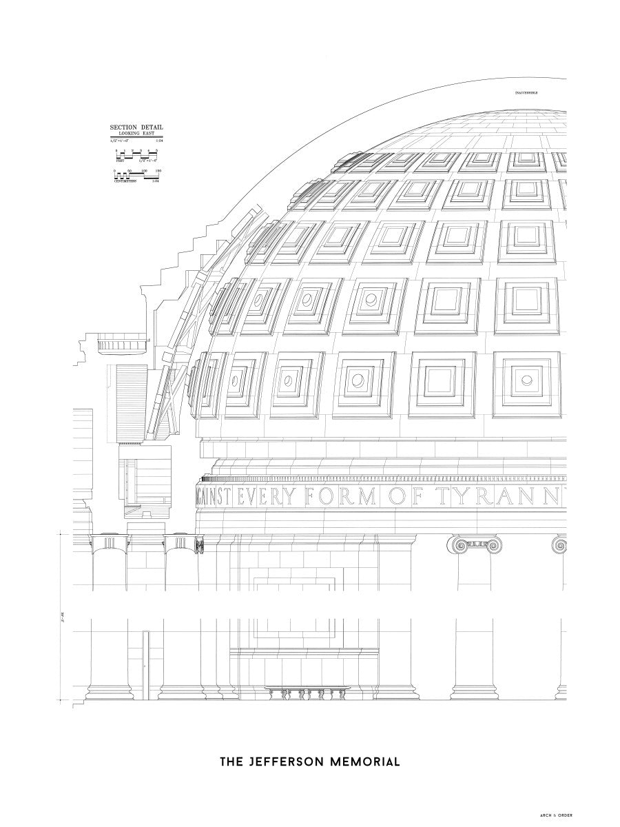 The Jefferson Memorial Section Detail - White -