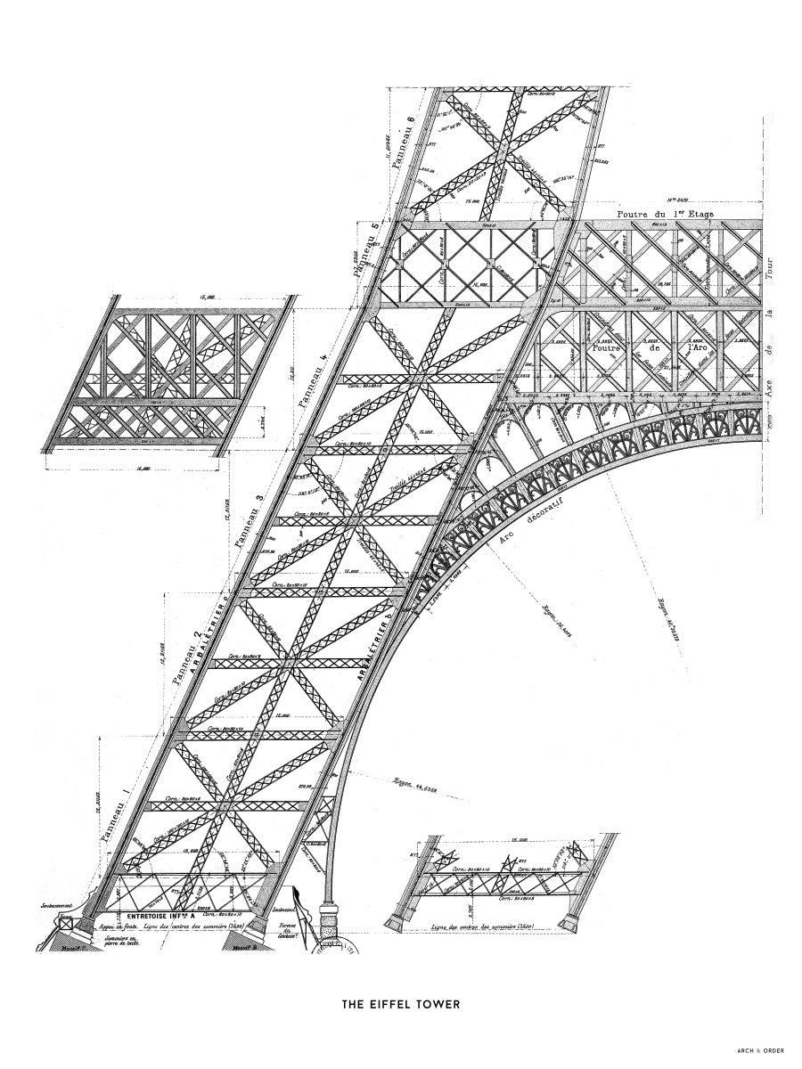 The Eiffel Tower - Base Section - White -