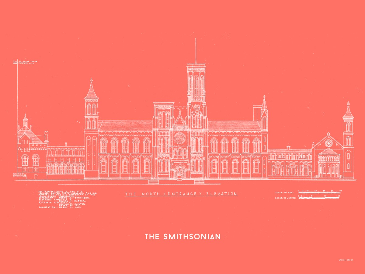 The Smithsonian North Elevation - Red -