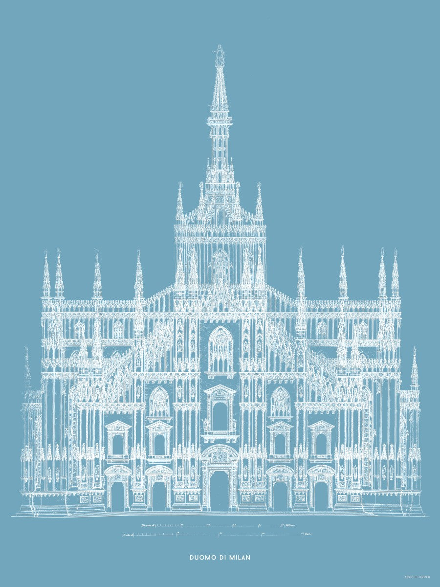 The Milan Cathedral - Alternative Primary Elevation - Blue -