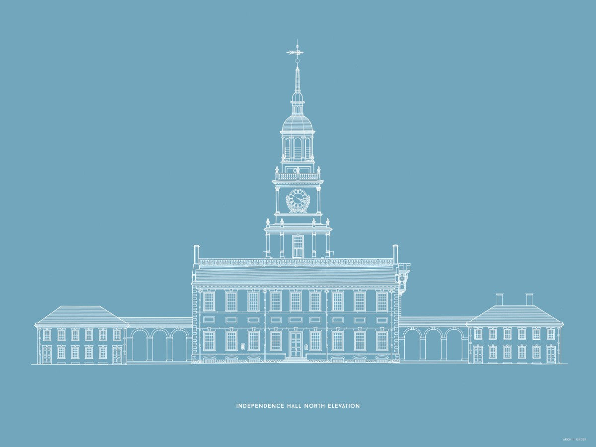 Independence Hall - North Elevation - Blue -