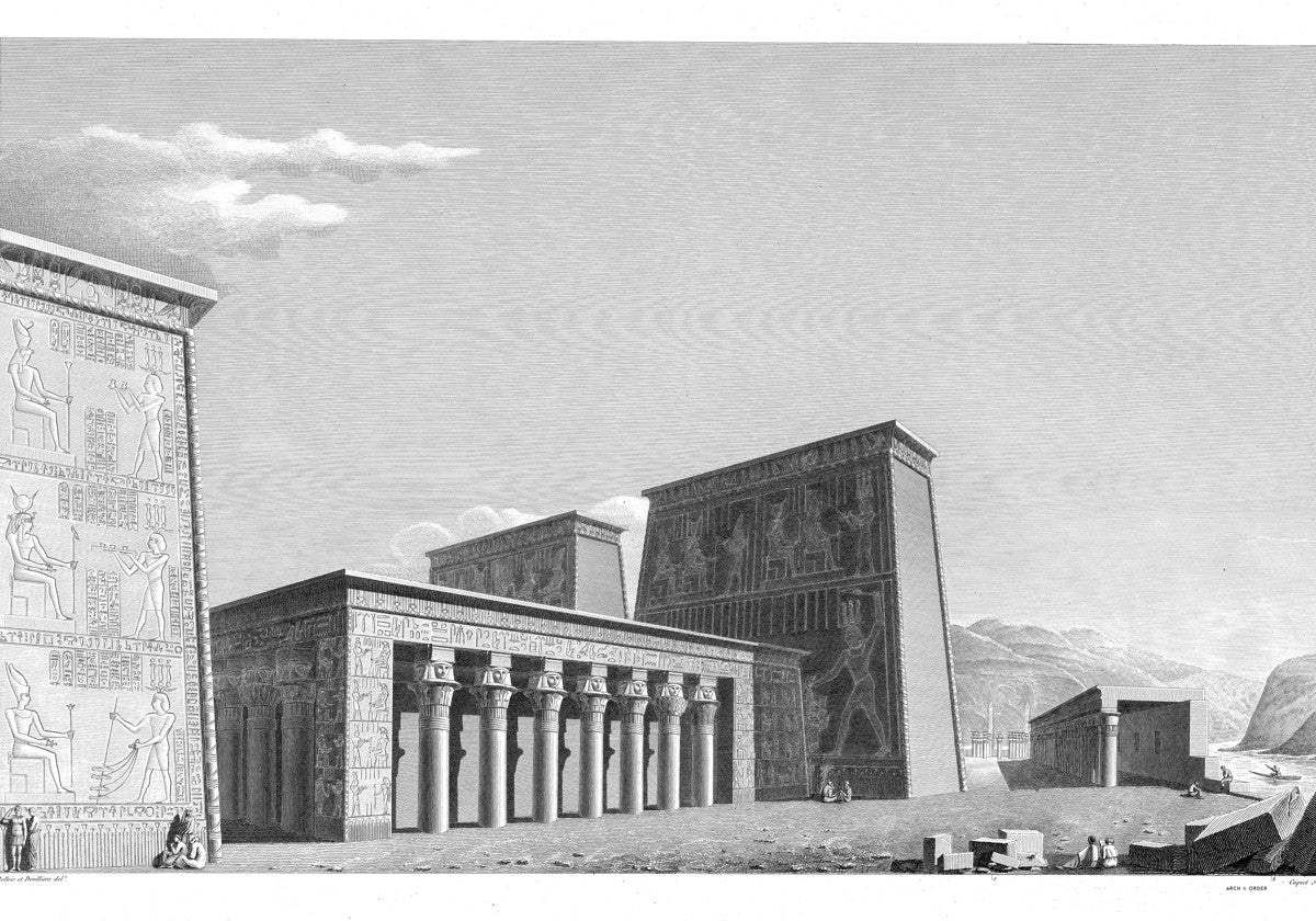 The Temple of Isis Perspective from the West - Philae Egypt -