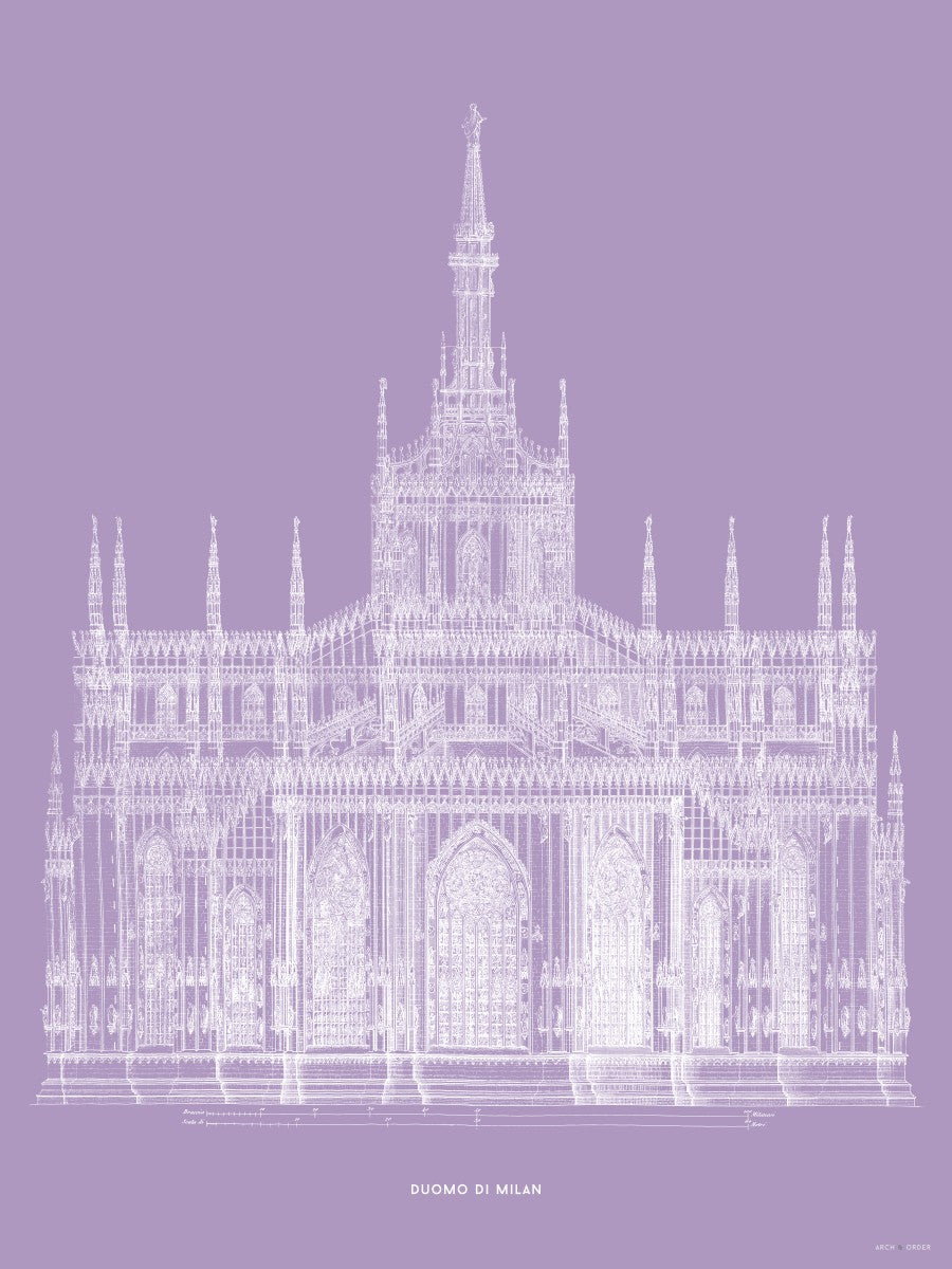 The Milan Cathedral - Primary Elevation - Lavender -