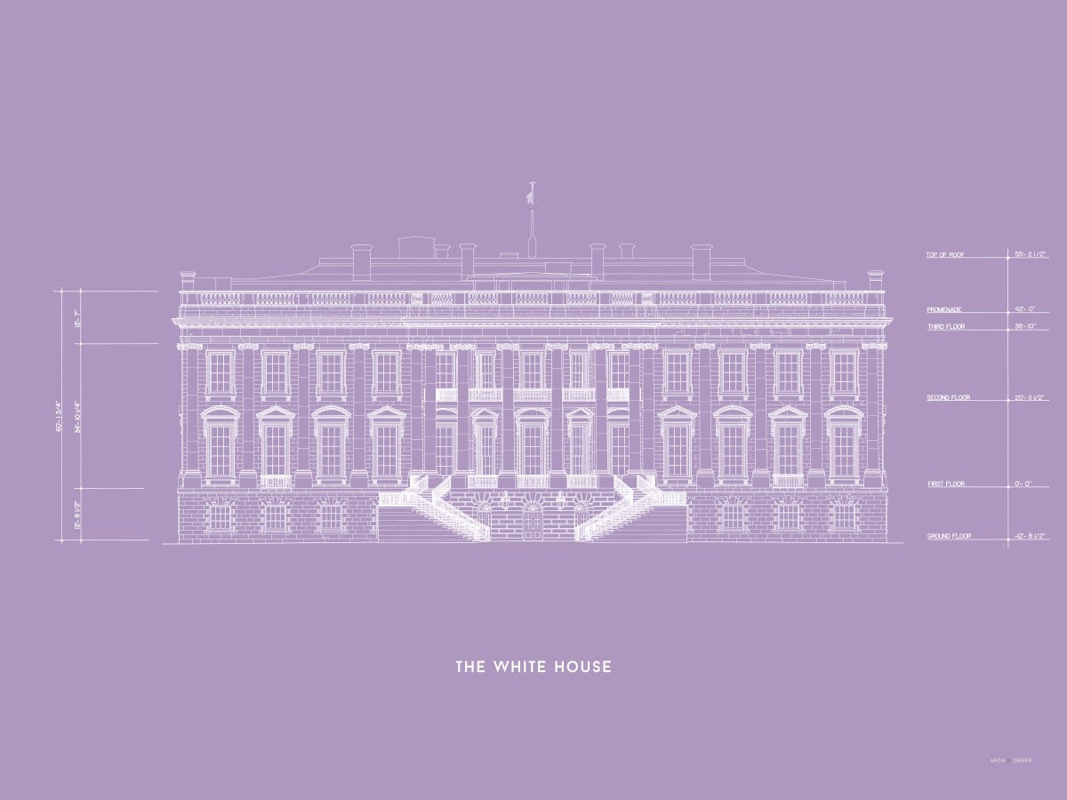 The White House South Elevation - Lavender -