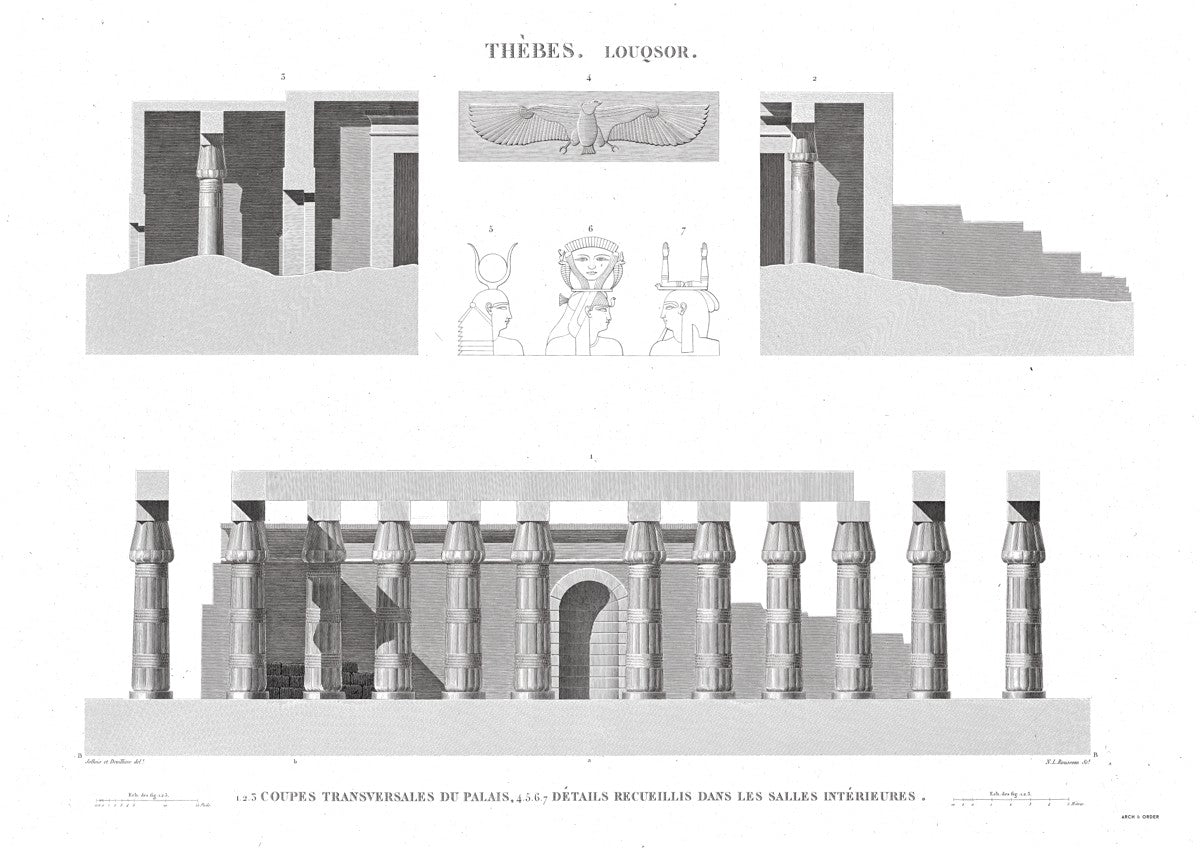 Cross Section of the Palace 2 - Luxor - Thebes Egypt -