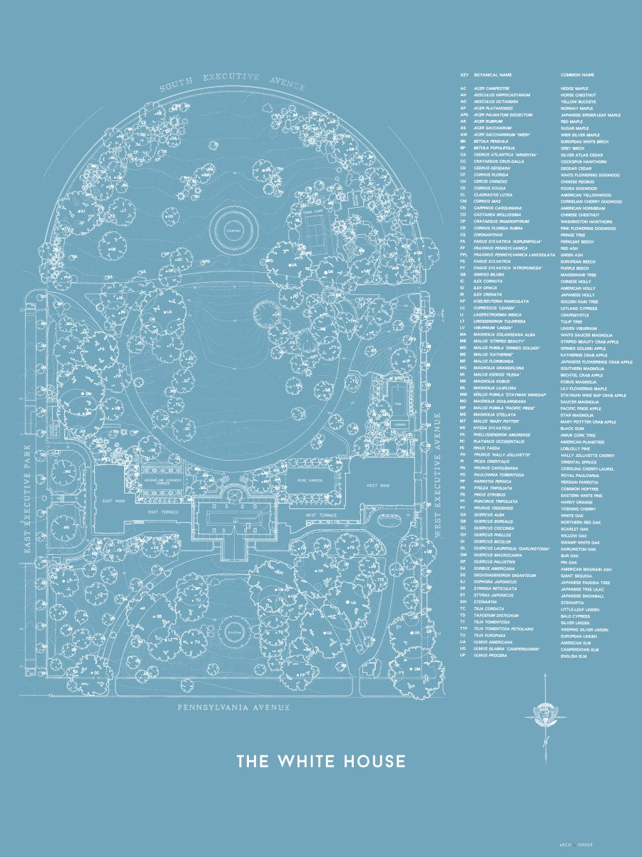 The White House Landscaping Plan - Blue -
