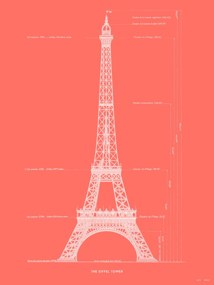The Eiffel Tower - Primary Elevation - Red -