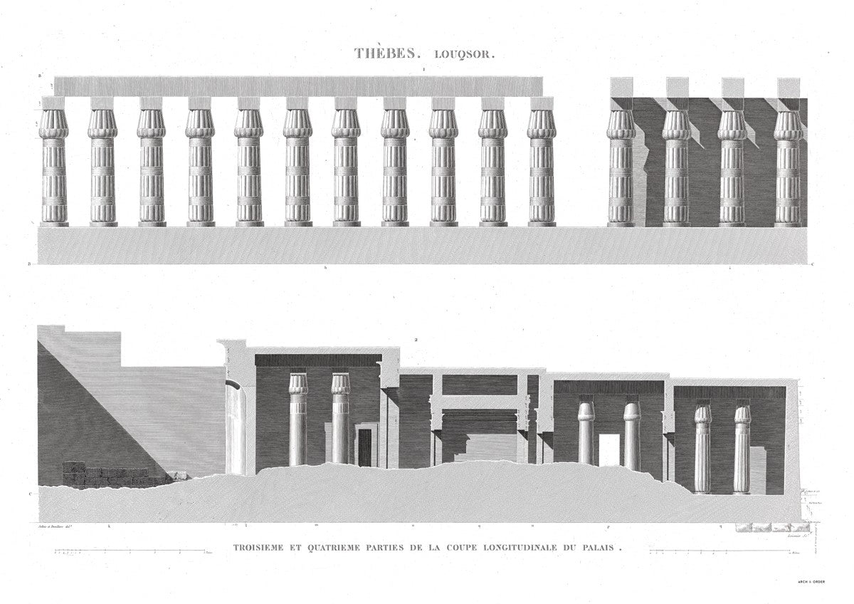 Cross Section of the Palace 3 - Luxor - Thebes Egypt -