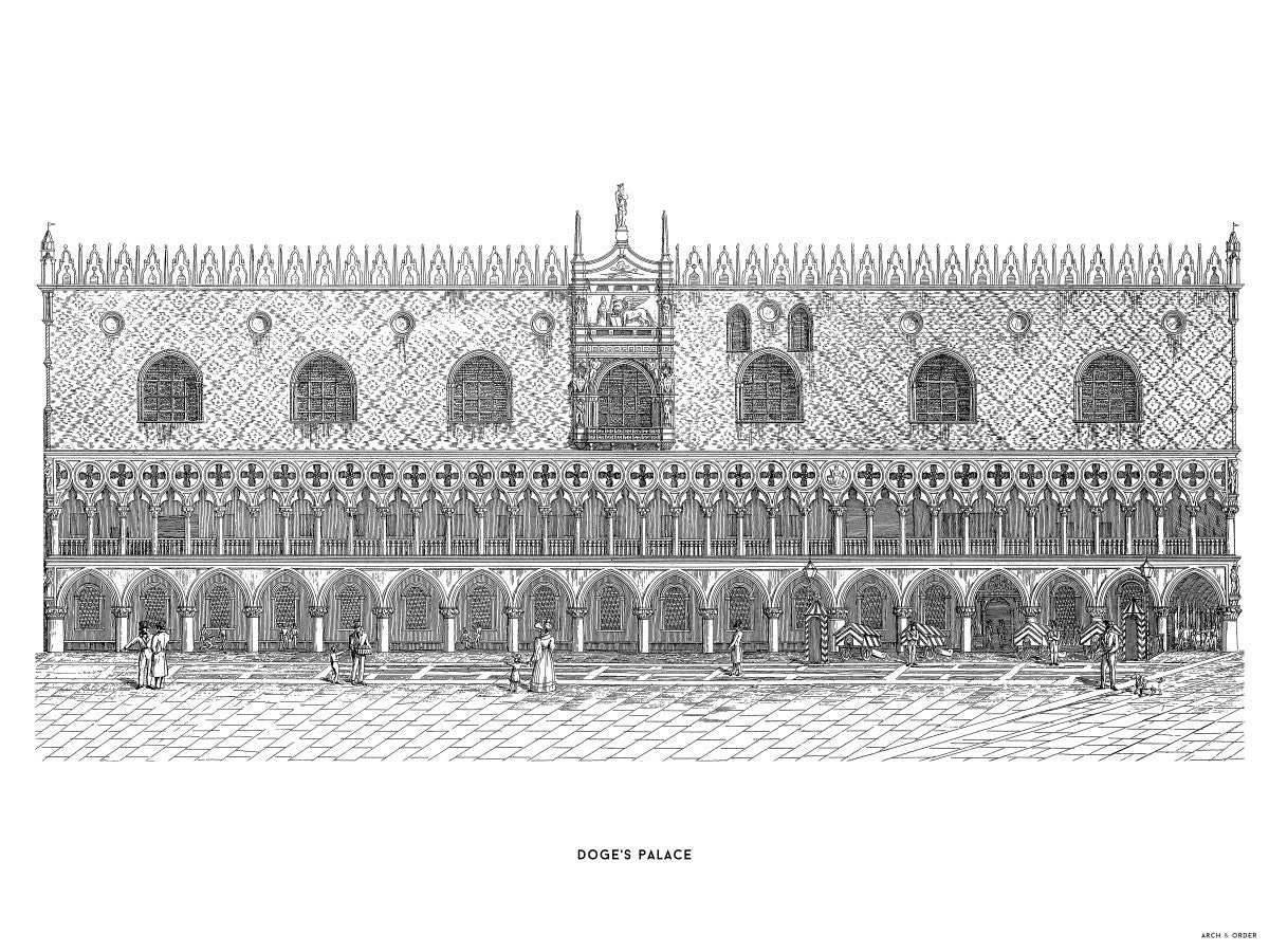 Doge's Palace - Primary Elevation - White -