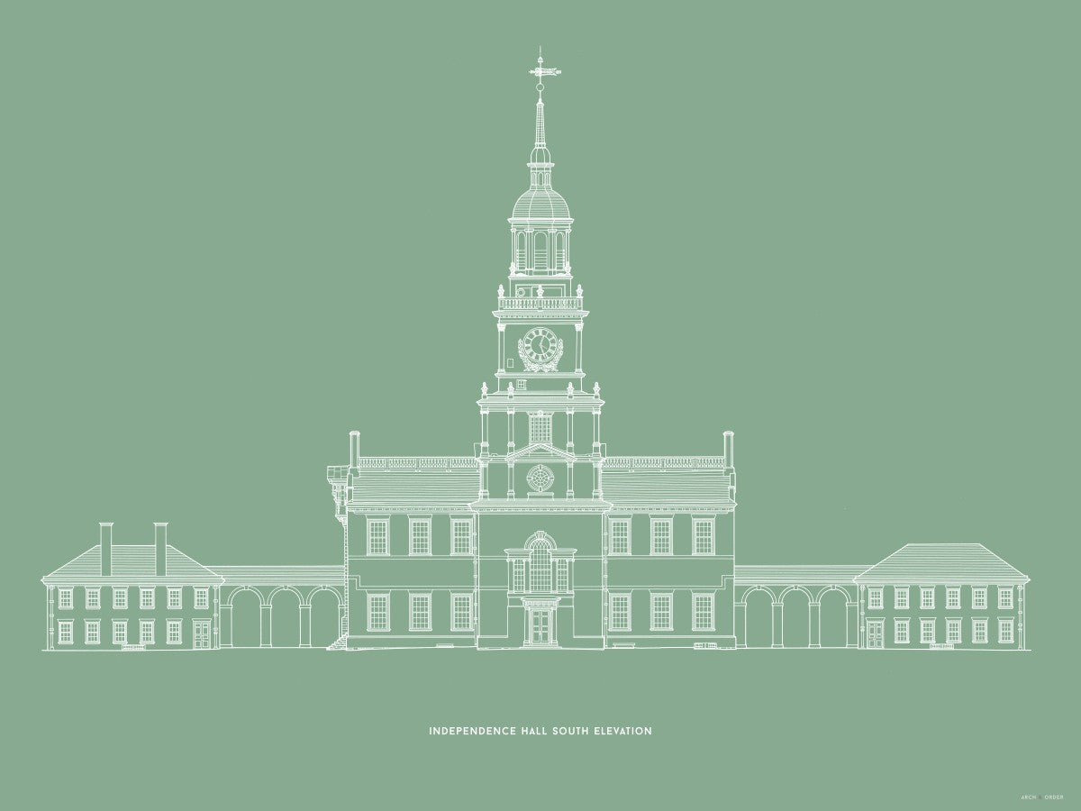Independence Hall - South Elevation - Green -