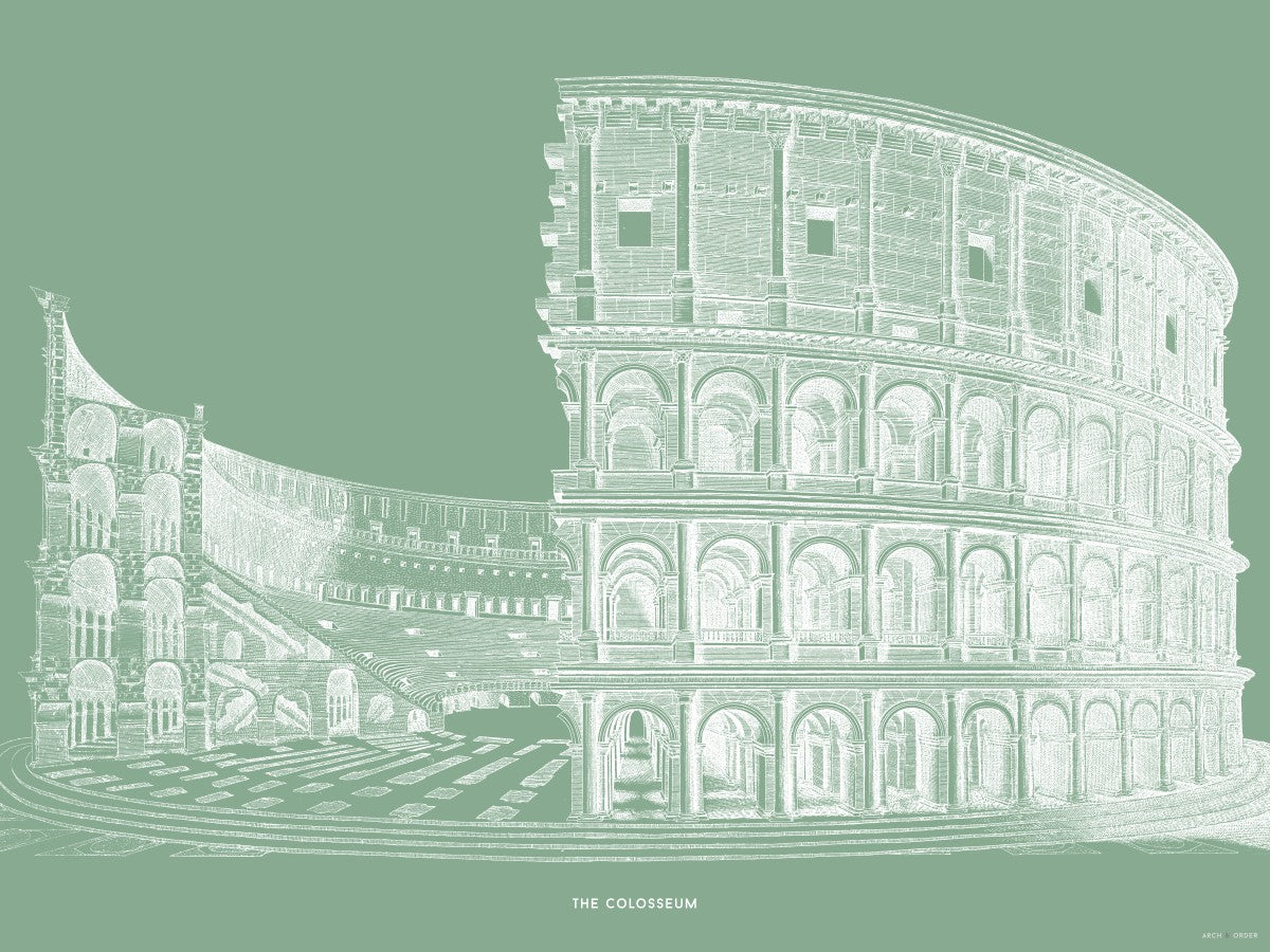 The Colosseum - Cross Section - Green -