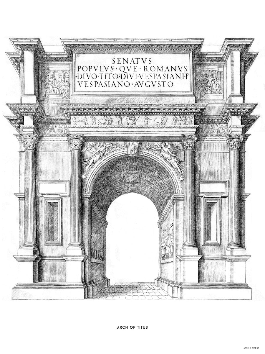 The Arch of Titus - White -