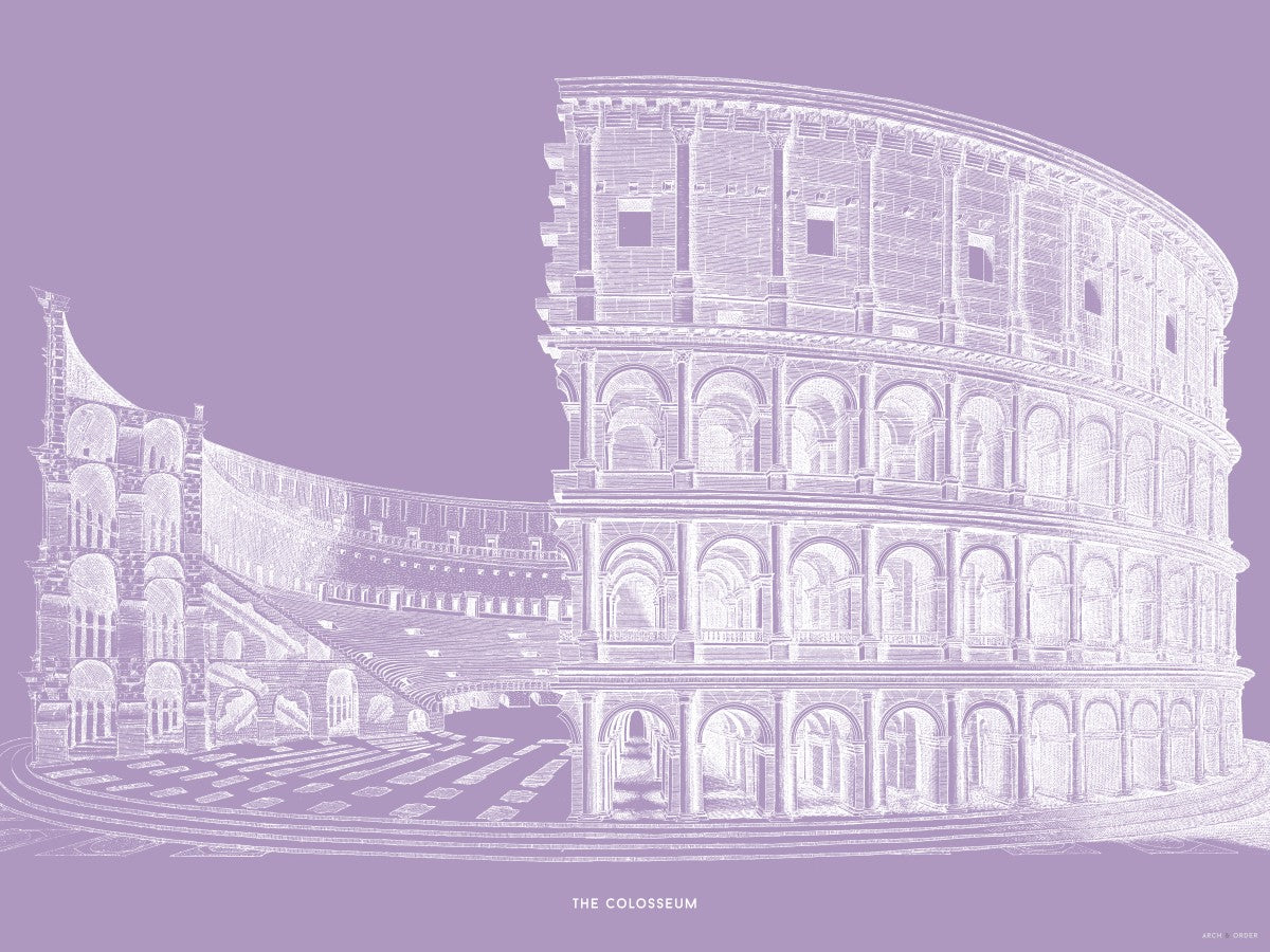 The Colosseum - Cross Section - Lavender -