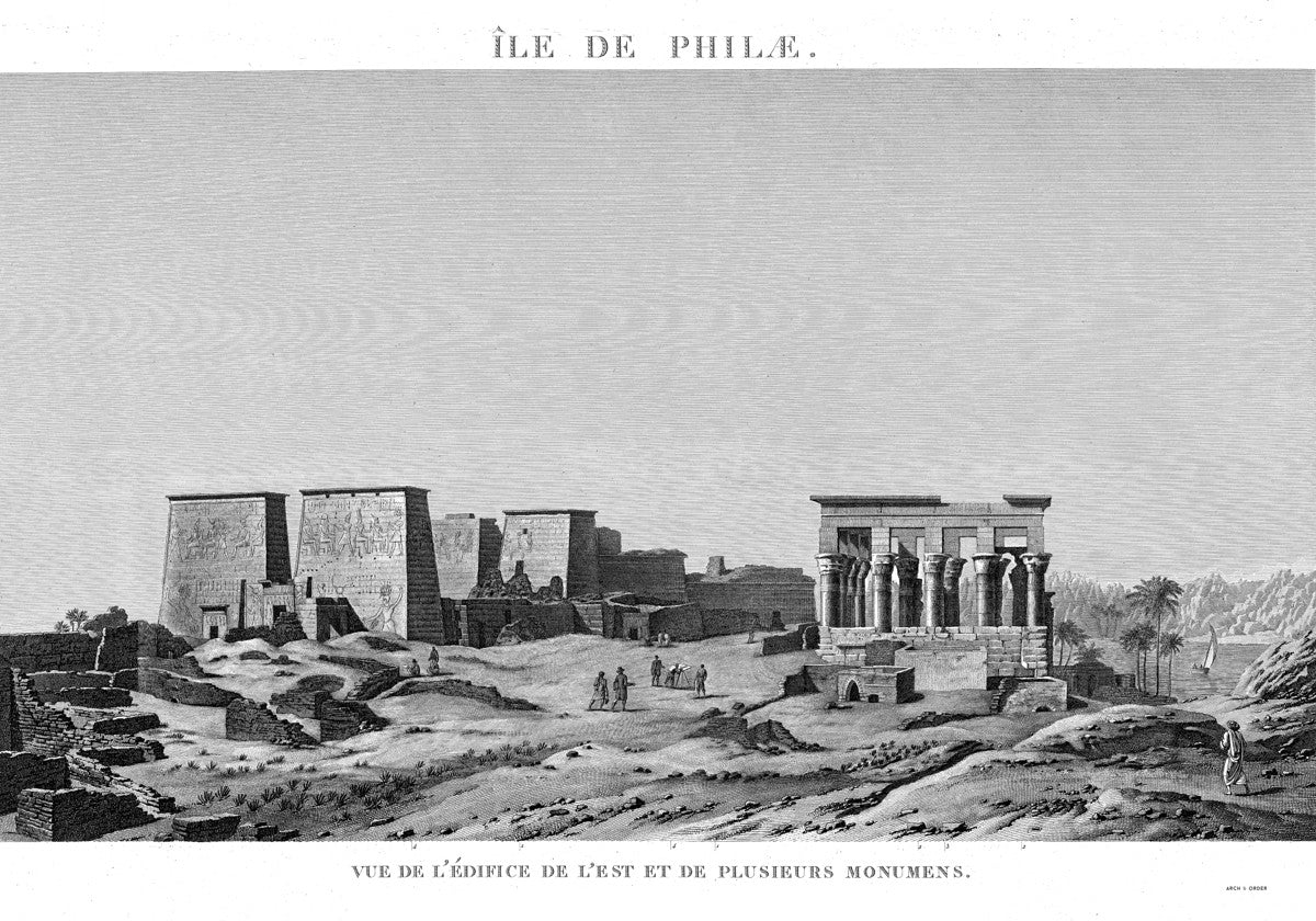 The Temple of Isis View from the East - Philae Egypt -