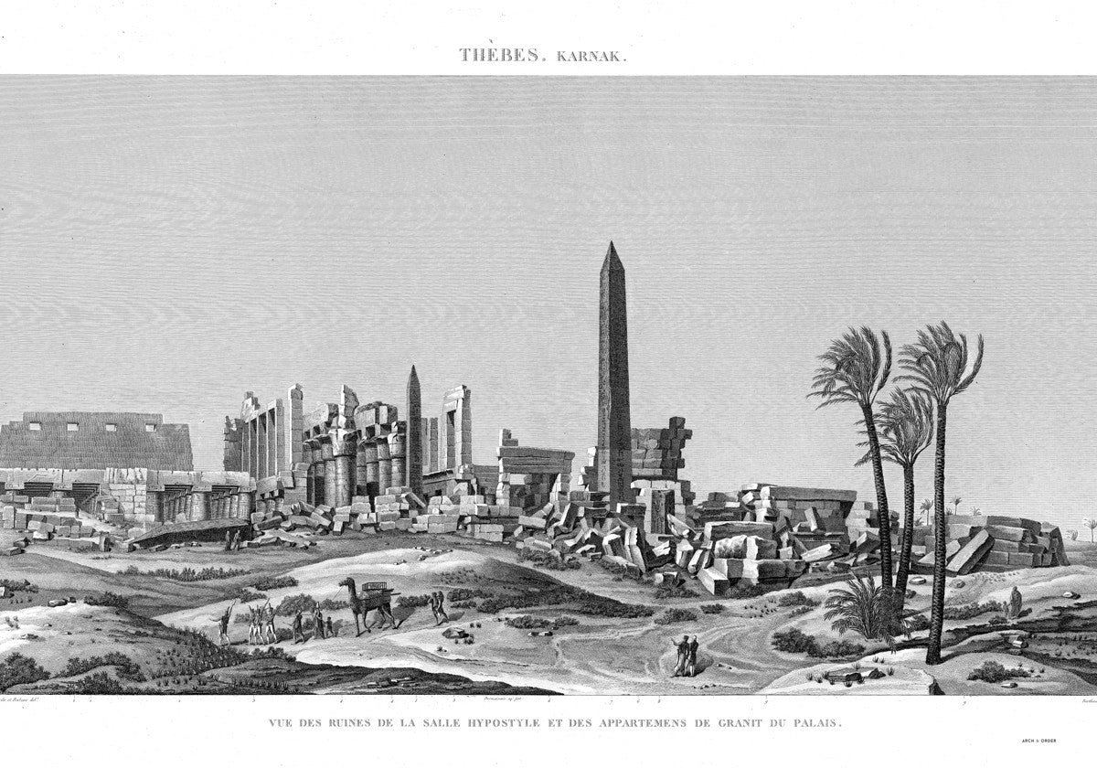 Ruins of the Hypostyle Hall - Karnak - Thebes Egypt -