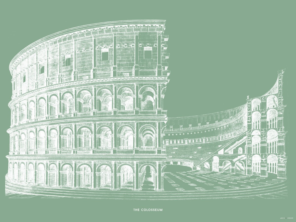 The Colosseum - Alternative Cross Section - Green -