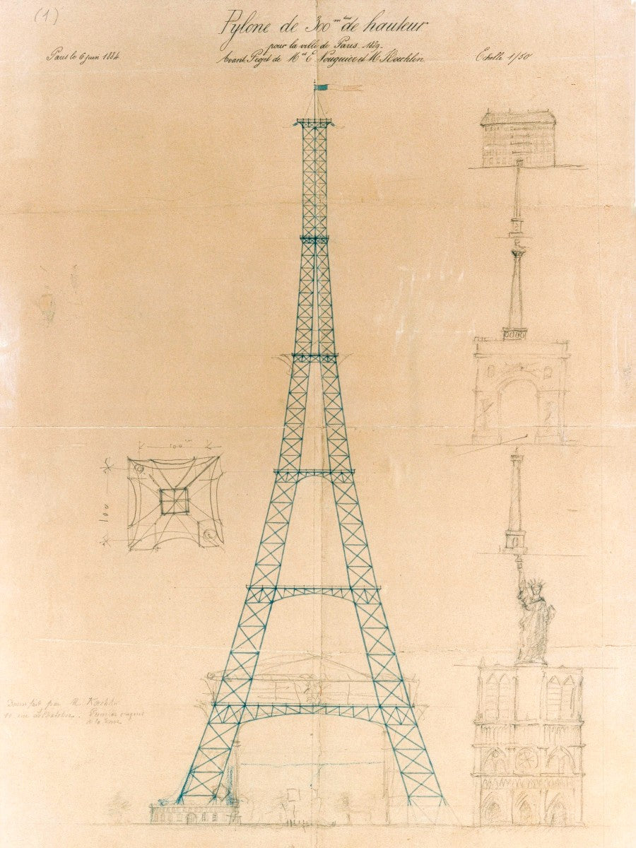 The Eiffel Tower - Original Sketch -