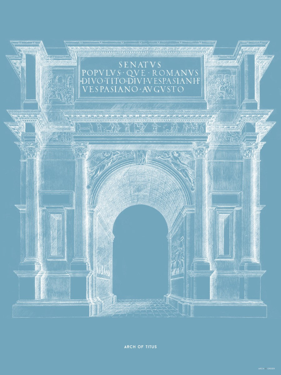 The Arch of Titus - Blue -