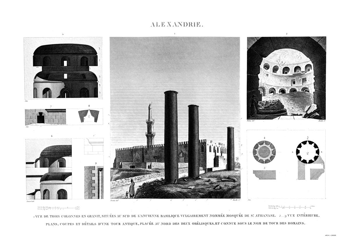 Mosque of St. Athanasius and Tower of the Romans - Alexandria Egypt -