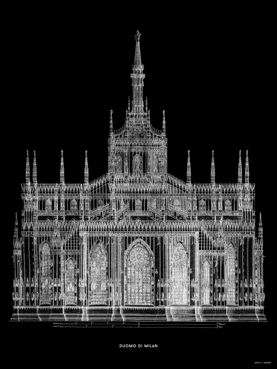 The Milan Cathedral - Primary Elevation - Black -