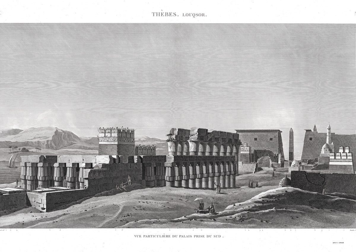 View of the Palace From the South - Luxor - Thebes Egypt -