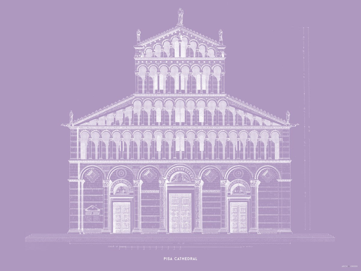 Pisa Cathedral - Primary Elevation - Lavender -