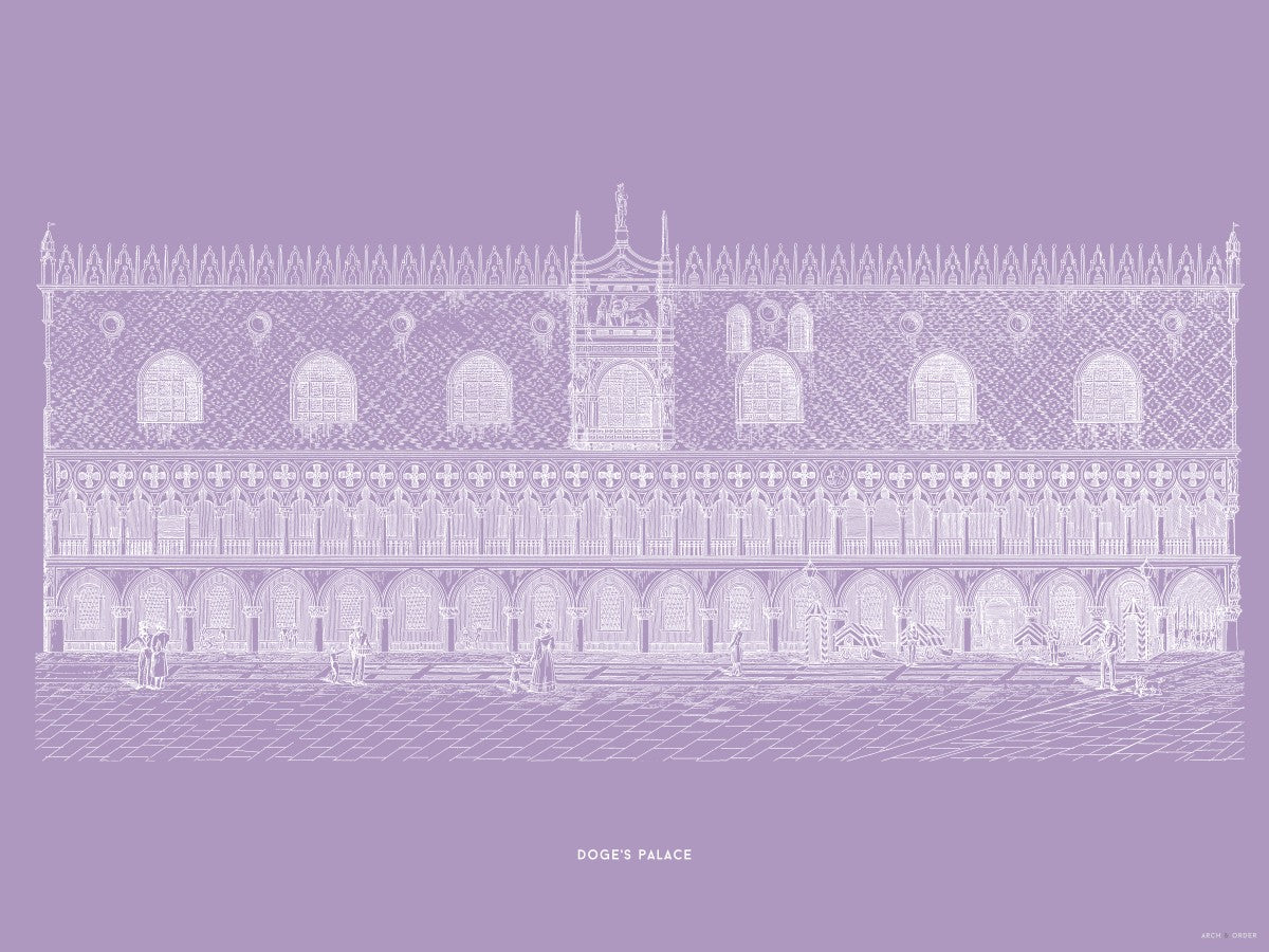Doge's Palace - Primary Elevation - Lavender -