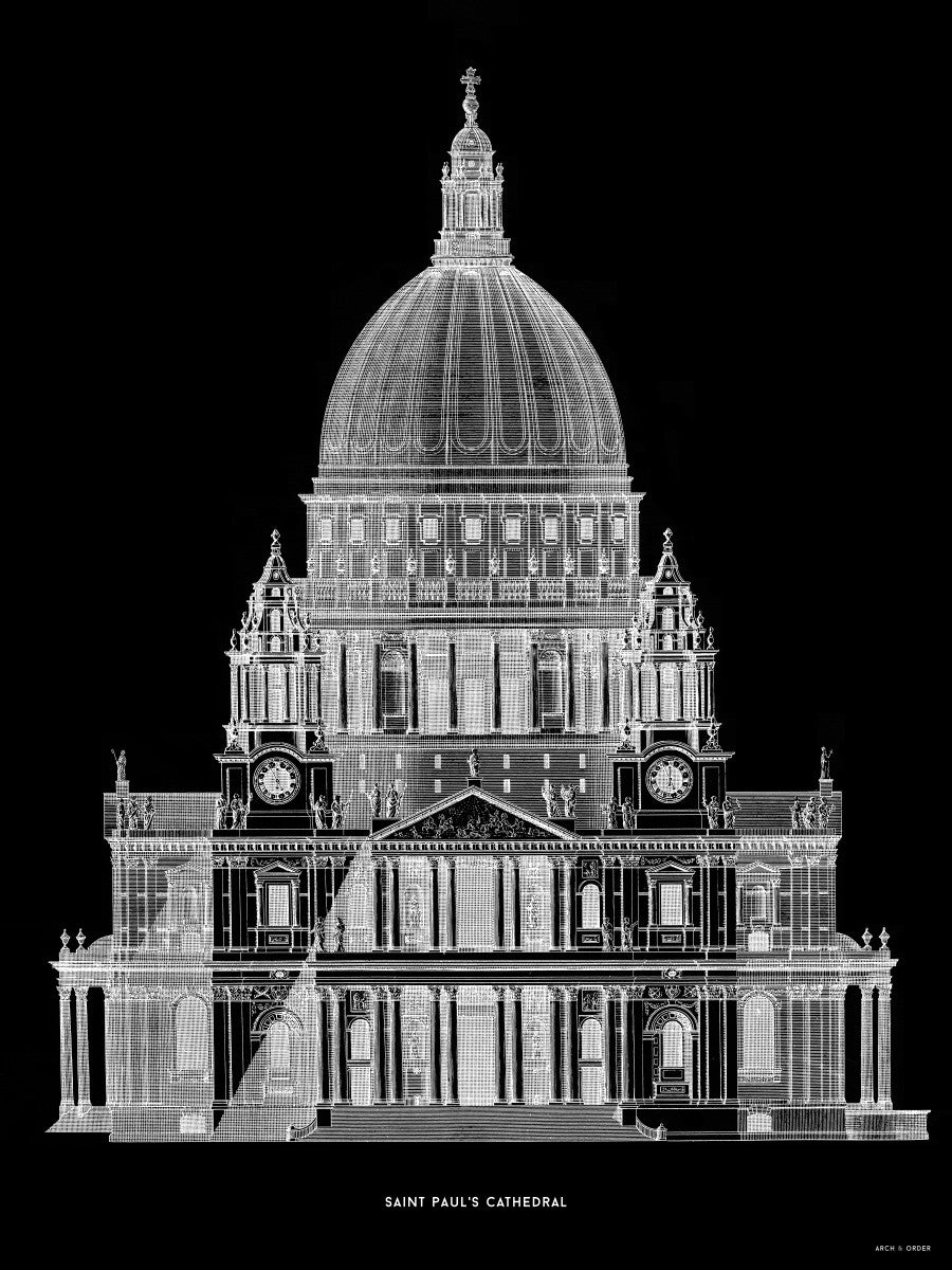 Saint Paul's Cathedral - Primary Elevation - Black -