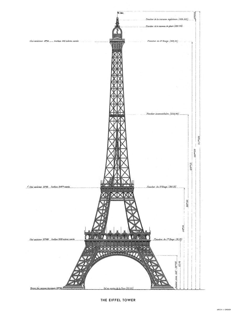 The Eiffel Tower - Primary Elevation - White -