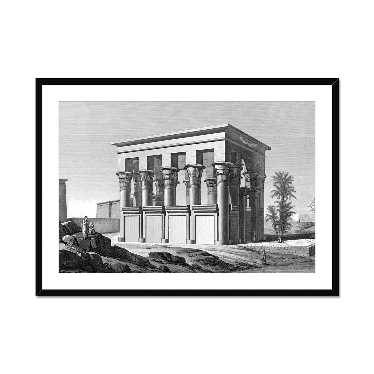Trajan's Kiosk - Philae Egypt -  Framed & Mounted Print