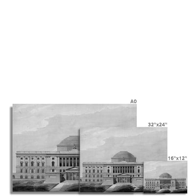 The U.S. Capitol Building - 1811 West Elevation -  Etching Paper Print
