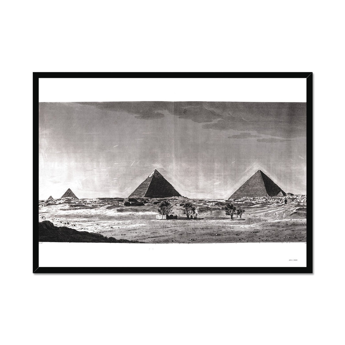 View of Pyramids from the South  - Memphis Egypt -  Framed Print