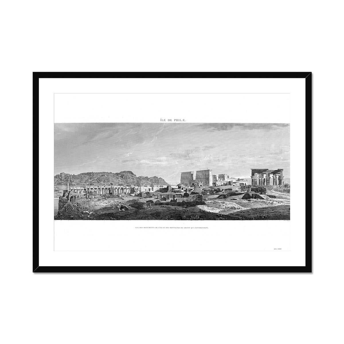 Temple of Isis Profile View - Philae Egypt -  Framed & Mounted Print