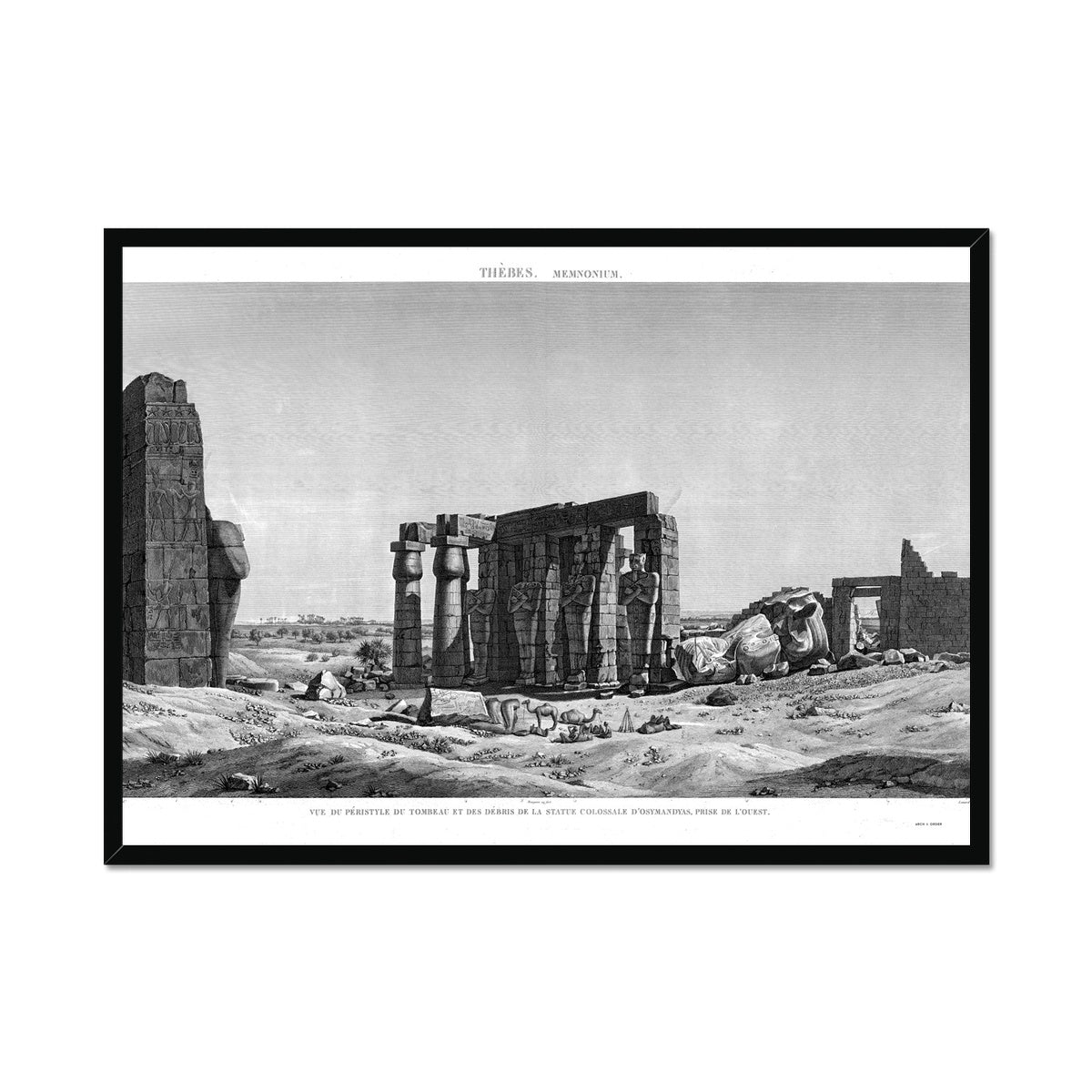 The Tomb of Osymandyas View 4 - Memnonium - Thebes Egypt -  Framed Print