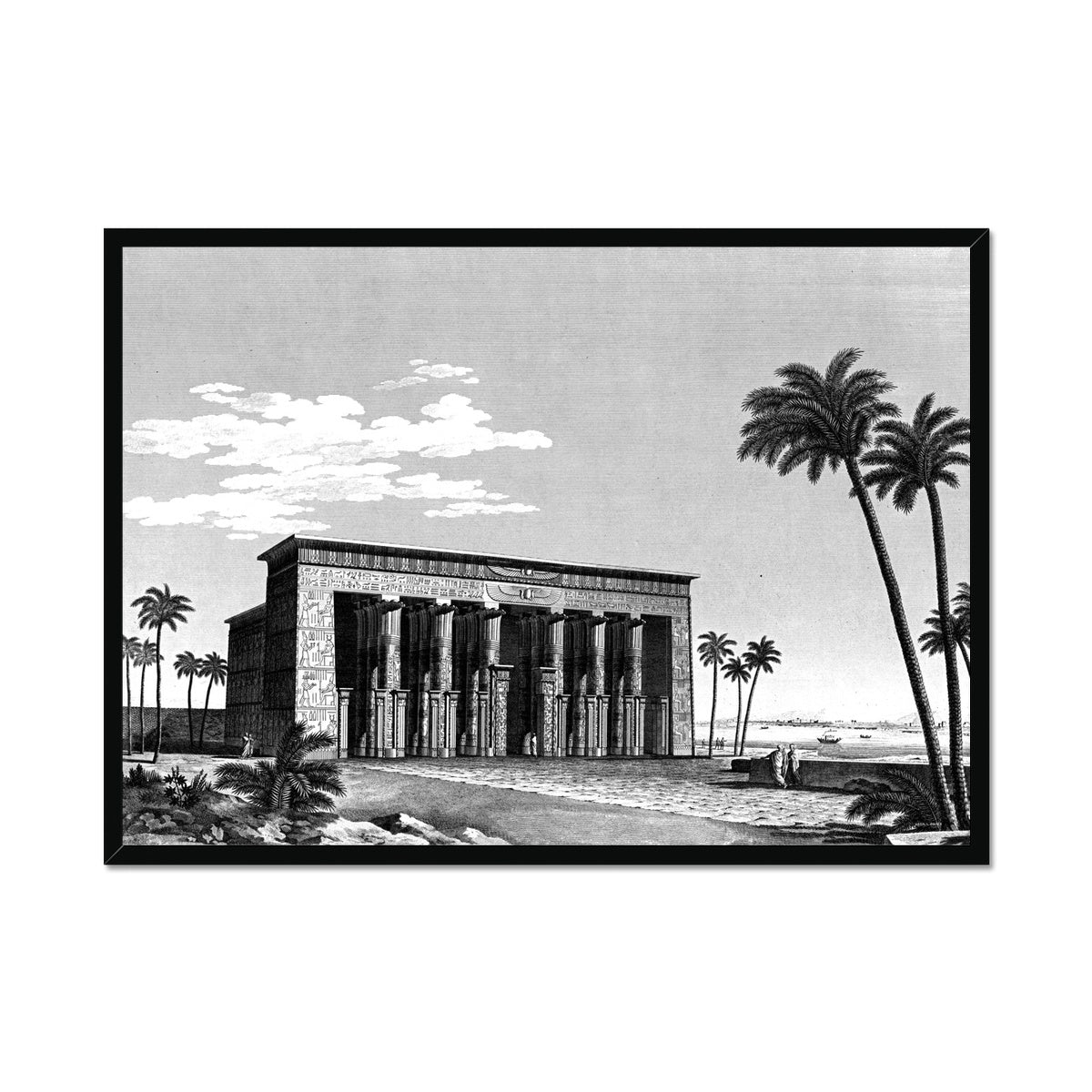 Temple View Perspective - Qau el-Kebir Egypt -  Framed Print