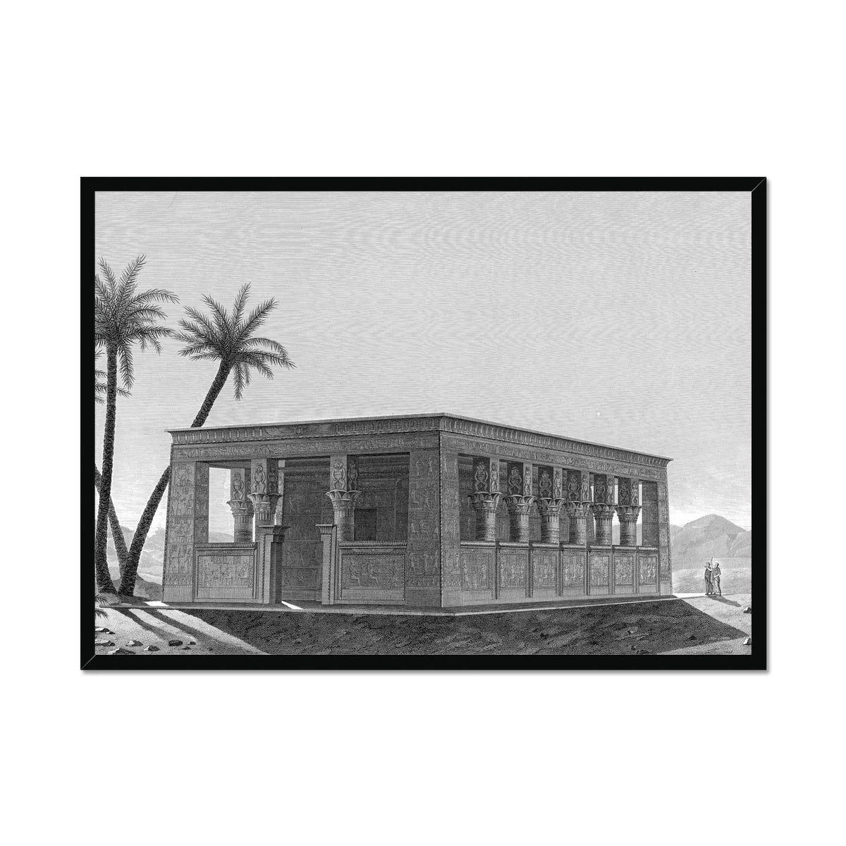 Small Temple Perspective - Edfu Egypt -  Framed Print