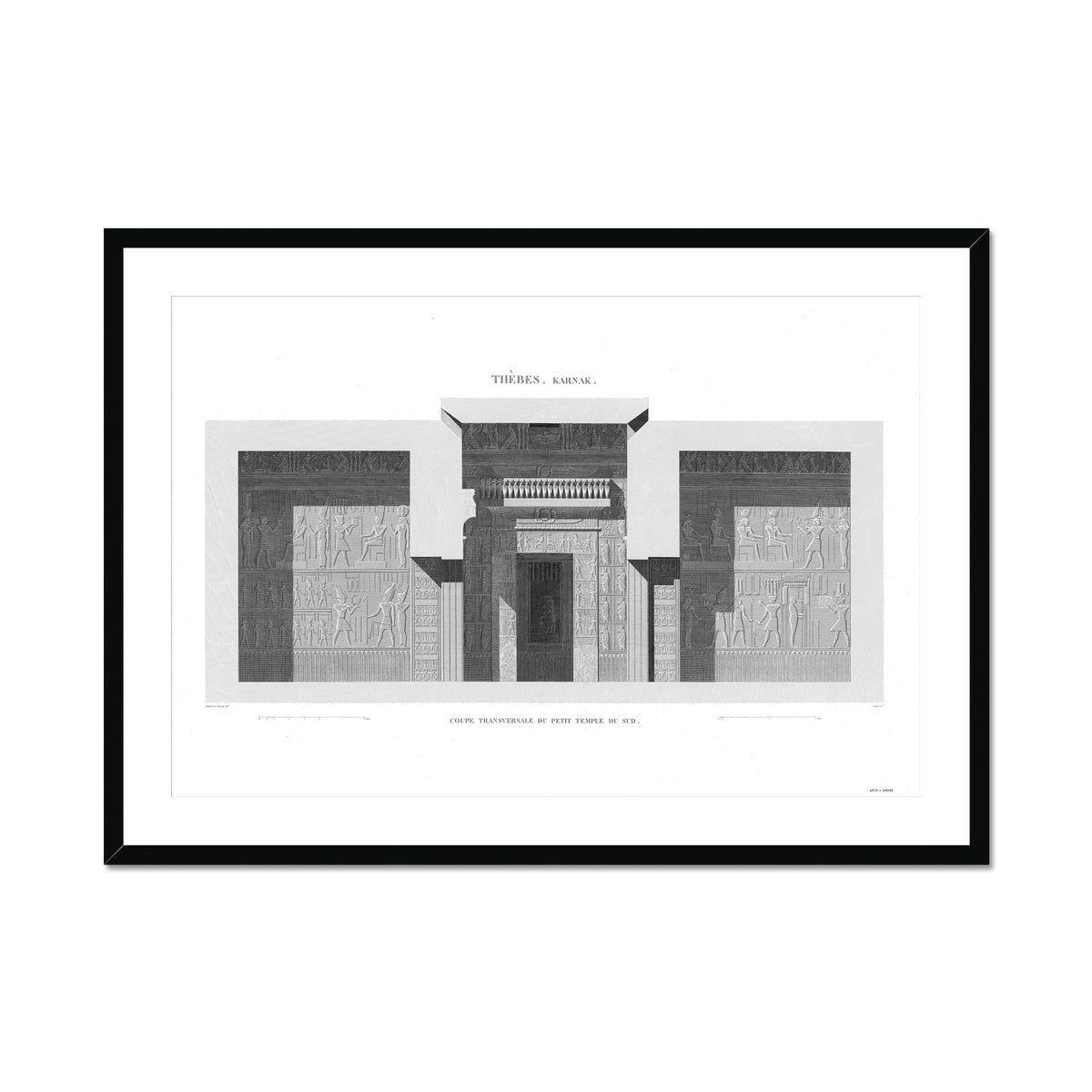 Sections of the Small Southern Temple 3 - Karnak - Thebes Egypt -  Framed & Mounted Print