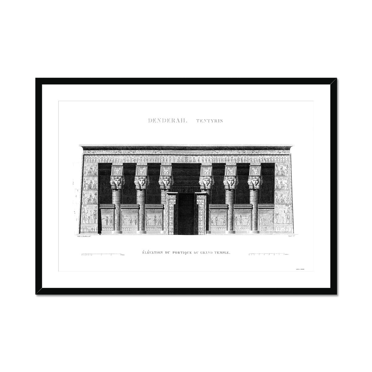 The Temple of Hathor Primary Elevation - Dendera Egypt -  Framed & Mounted Print