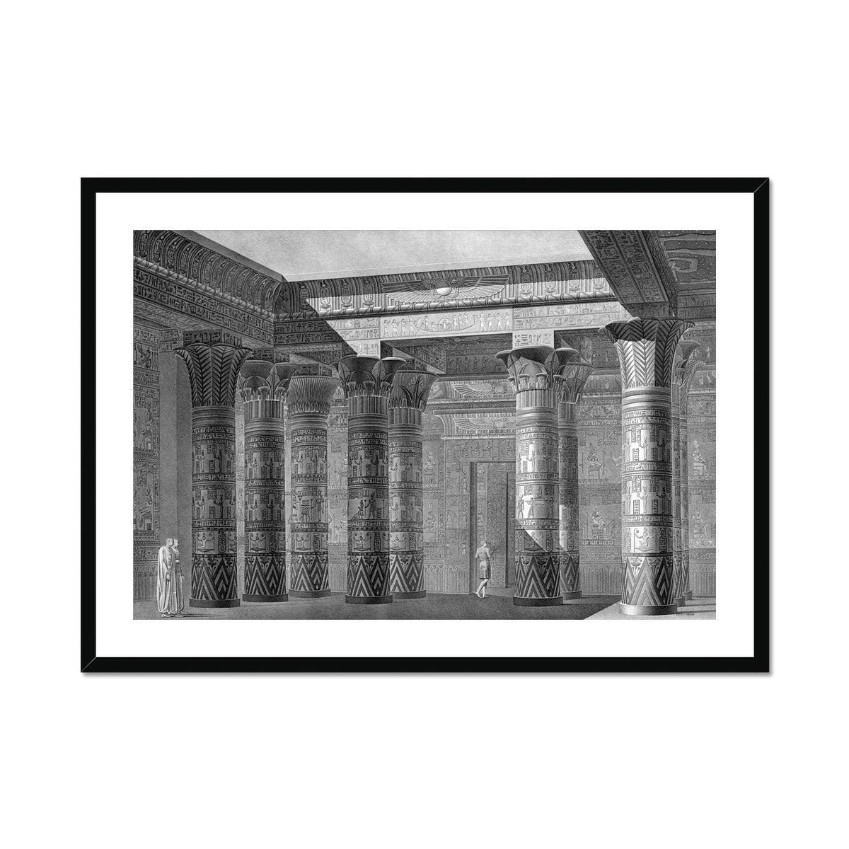 The Temple of Isis Portico Perspective - Philae Egypt -  Framed & Mounted Print