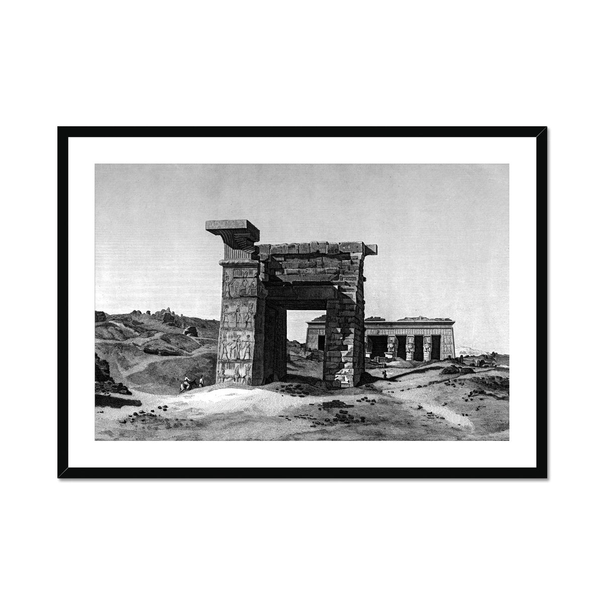The Temple of Hathor - Dendera Egypt -  Framed & Mounted Print
