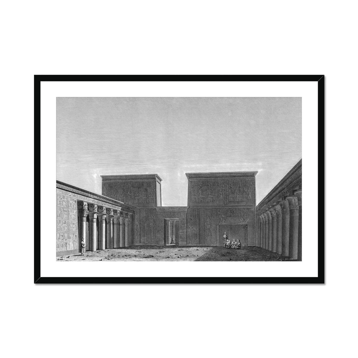 The Temple of Isis View of Second Pylon - Philae Egypt -  Framed & Mounted Print