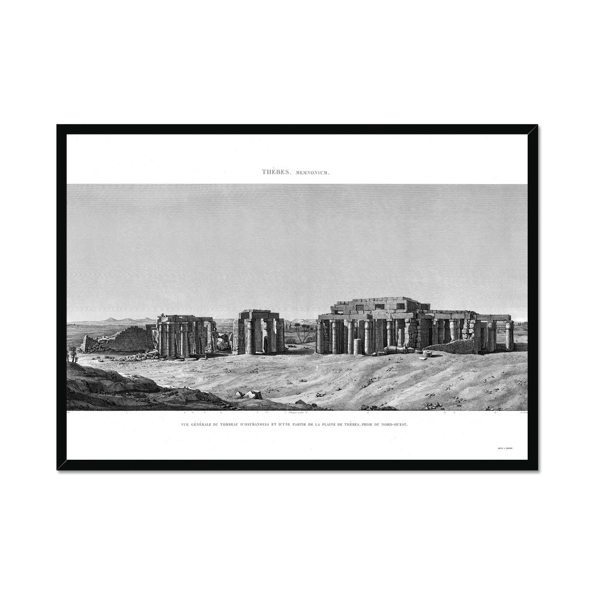 The Tomb of Osymandyas View - Memnonium - Thebes Egypt -  Framed Print