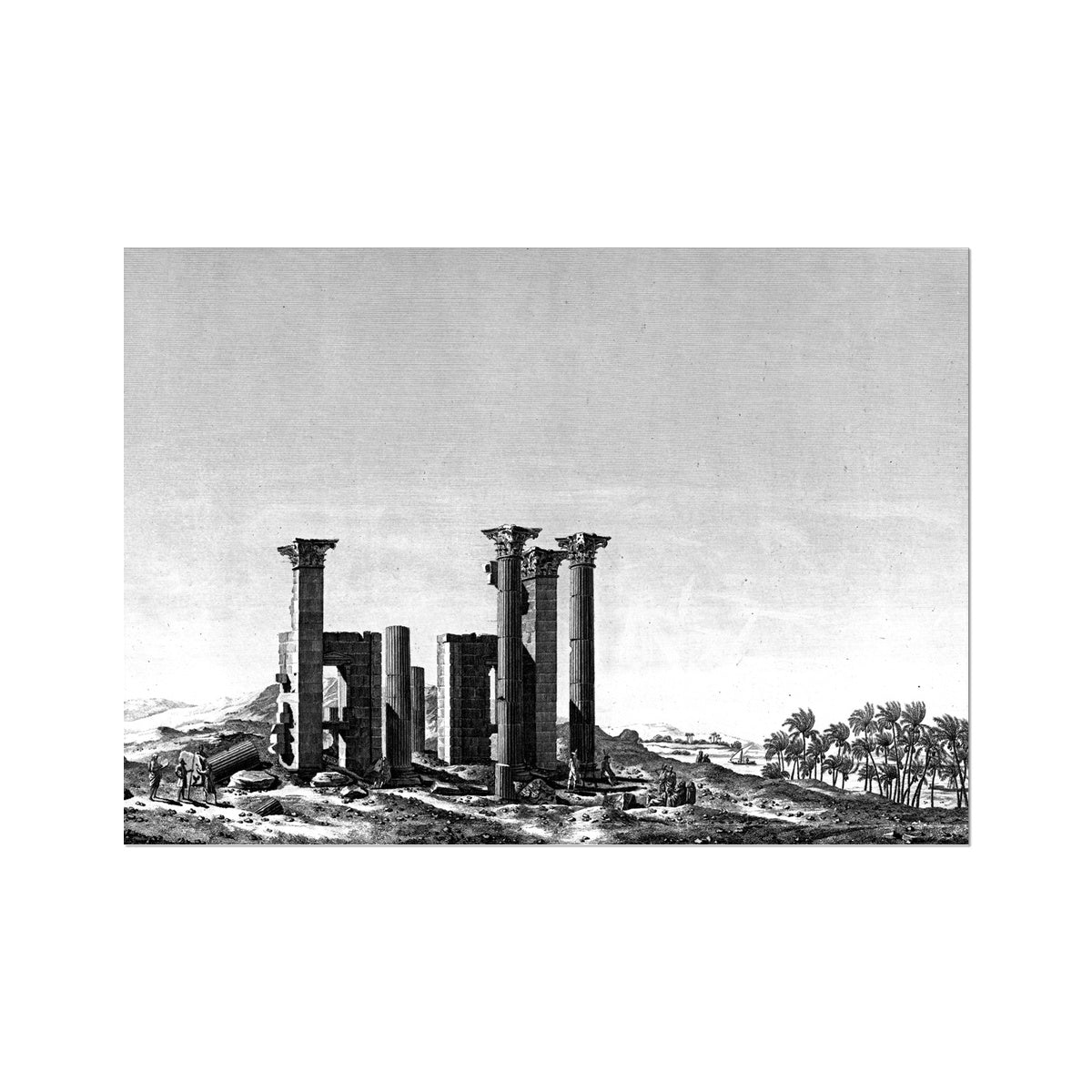 Theater Portico - Antinoöpolis Egypt -  Etching Paper Print