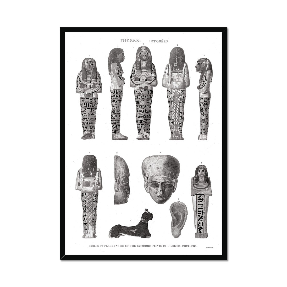 Mummy Fragments 2 - Egypt -  Framed Print