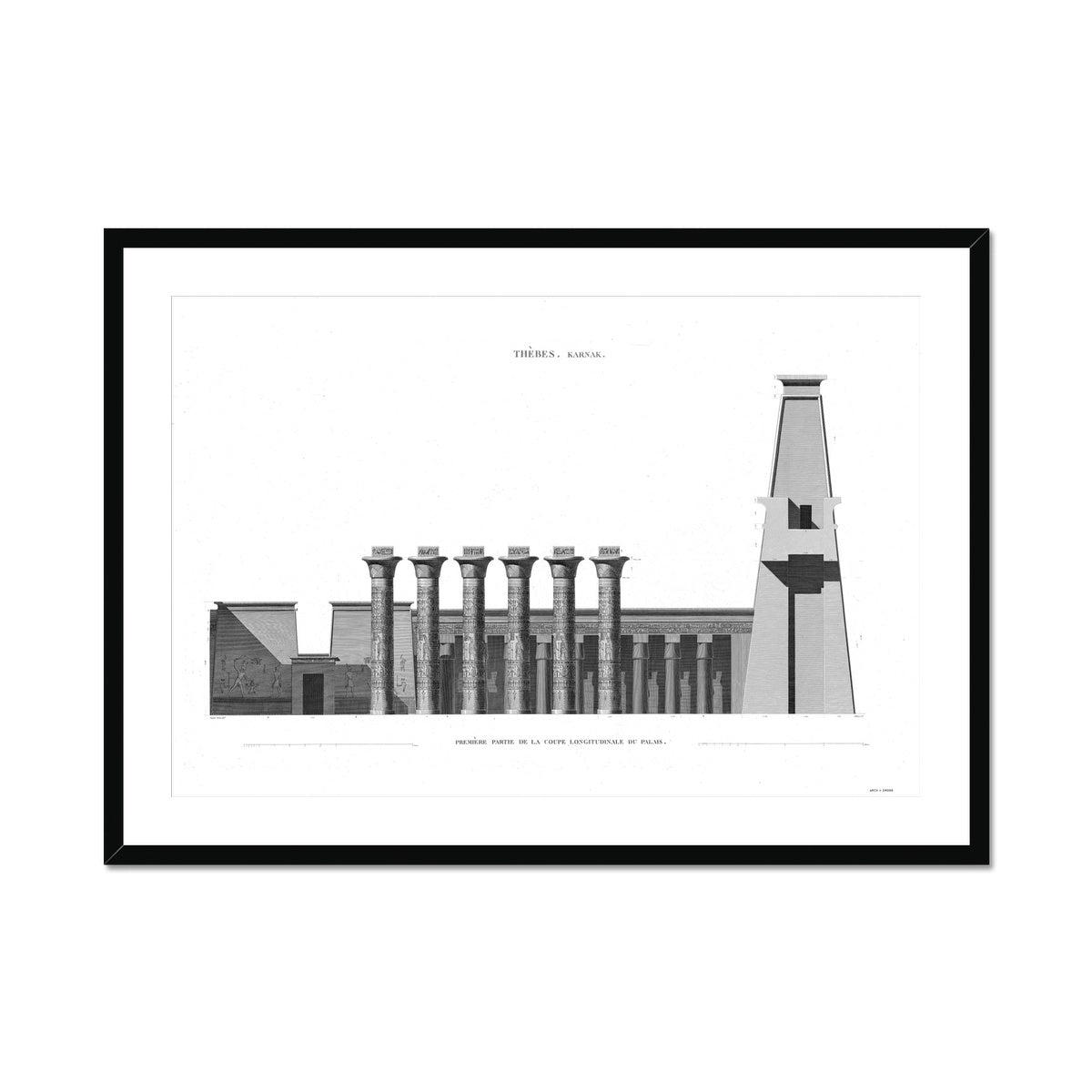 Section of the Palace - Karnak - Thebes Egypt -  Framed & Mounted Print