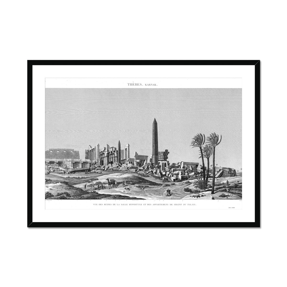 Ruins of the Hypostyle Hall - Karnak - Thebes Egypt -  Framed & Mounted Print