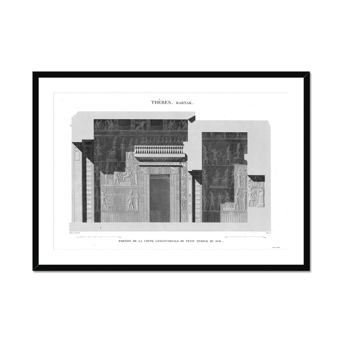Sections of the Small Southern Temple 2 - Karnak - Thebes Egypt -  Framed & Mounted Print