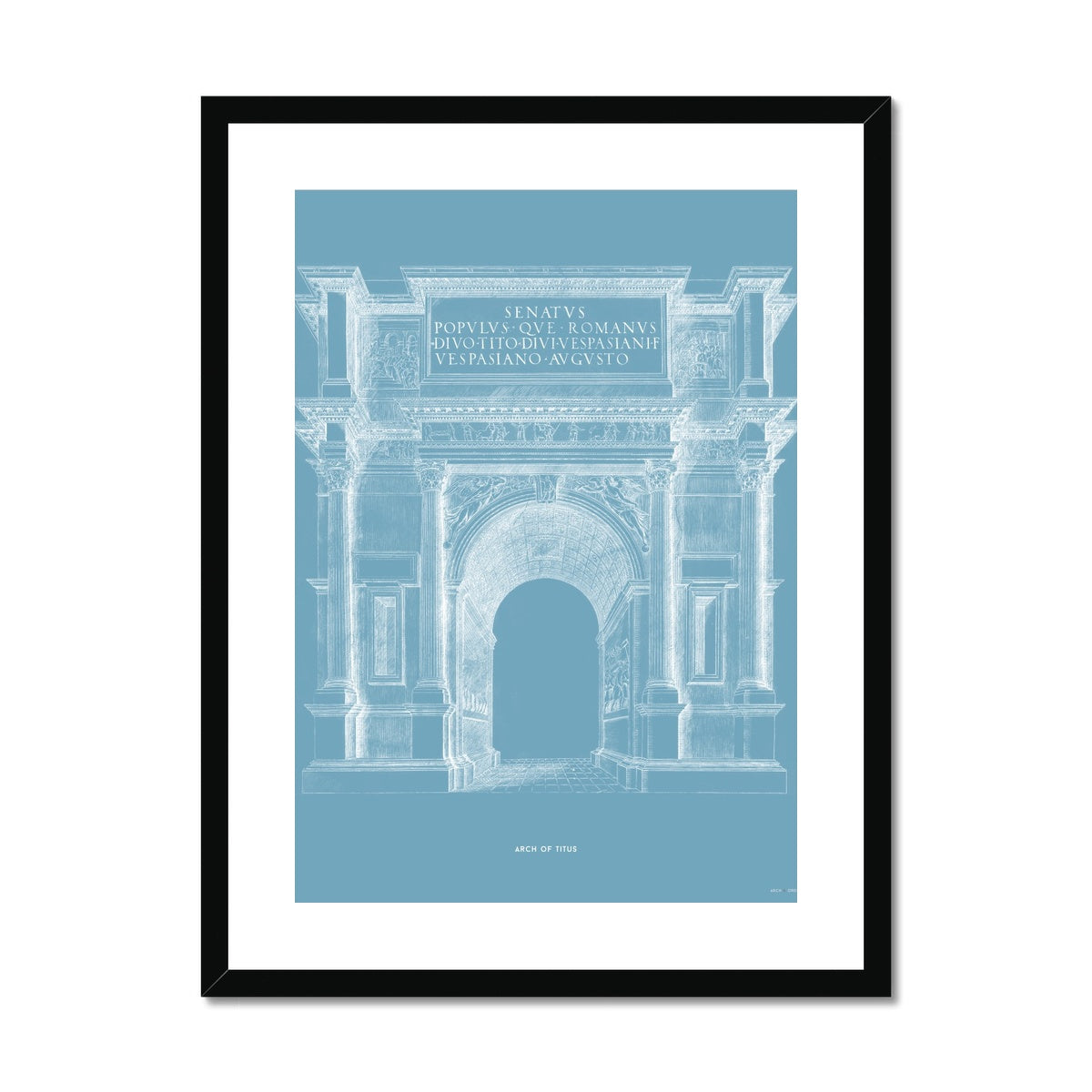 The Arch of Titus - Blue -  Framed & Mounted Print