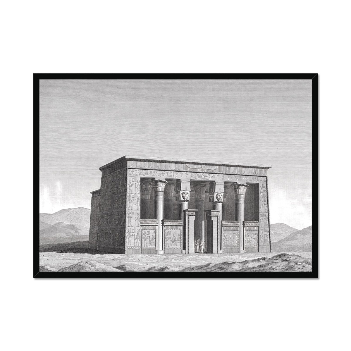 Lower Temple - Esna Egypt -  Framed Print